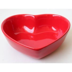 Bowl Coração em Cerâmica 13x12cm vermelho – Silveira