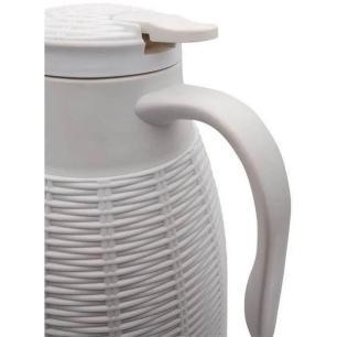 Garrafa Térmica em Rattan Plástico 1L Branco – Full Fit
