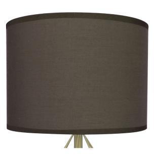 Abajur Decorativo Bivolt Ferro/Tecido 35cm Marrom - Alfacell