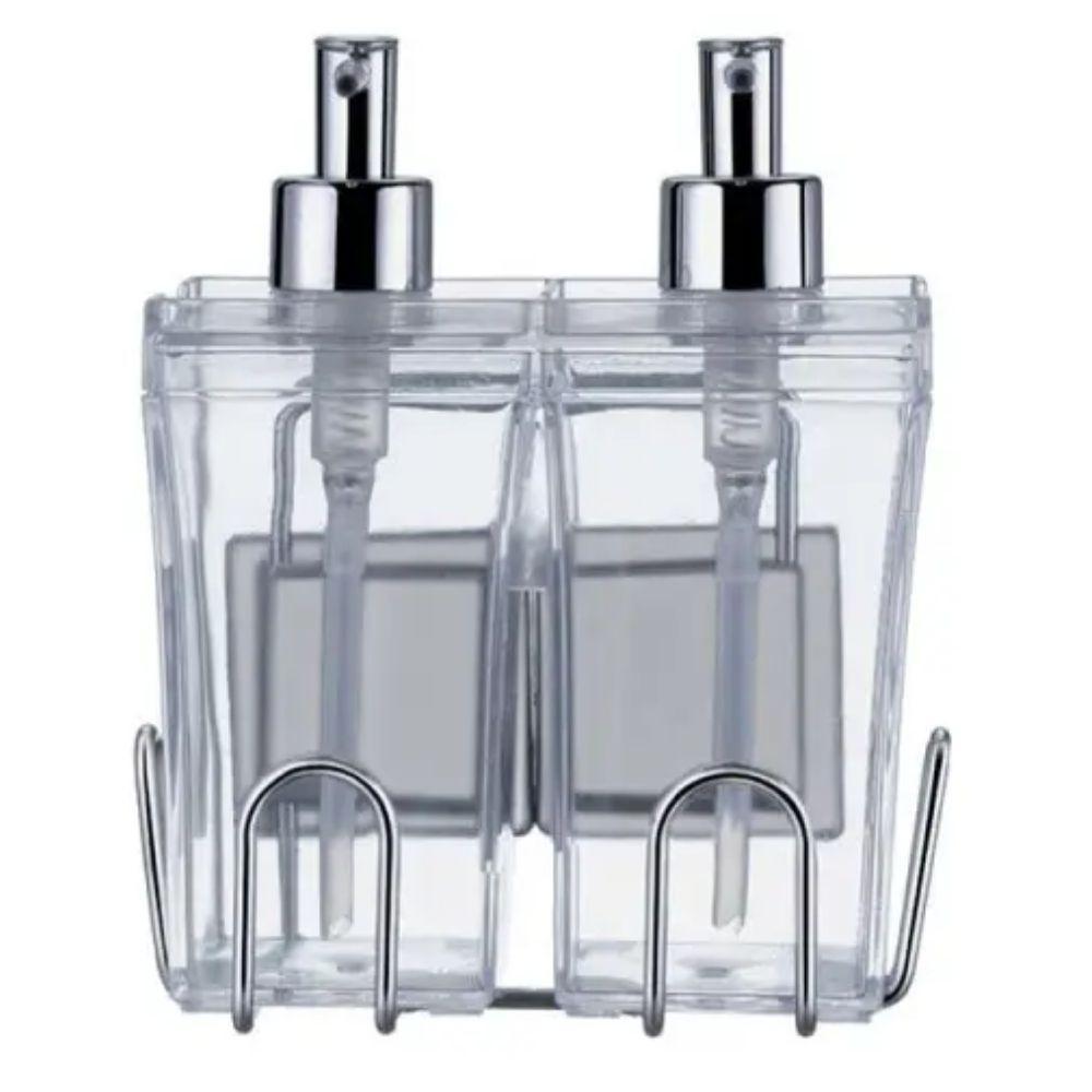 Kit Banho Dispenser Duo p/Shampoo e Condicionador c/Ventosas