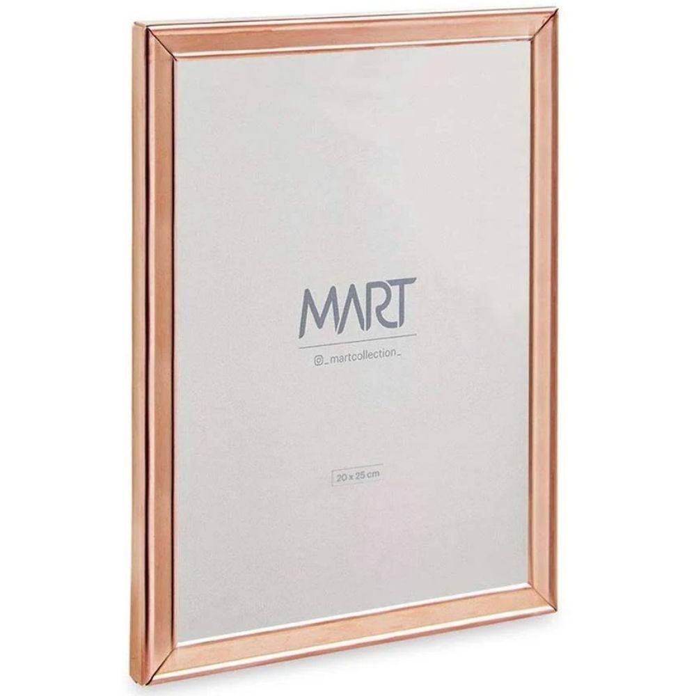 Porta Retrato em Metal e Vidro 20x25 Rose Gold  - Mart