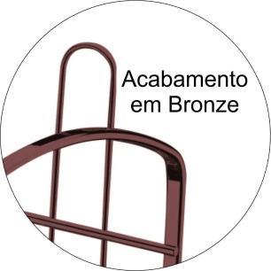 Escorredor de Louça em Aço Carbono 44 cm Bronze - Future