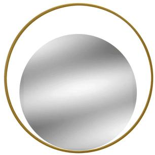 Espelho de Parede Redondo com Moldura Dourada 30 cm - MABRUK