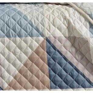 Cobre Leito Quartzo Queen Azul 3 pçs Toque Suave-  Sulamita