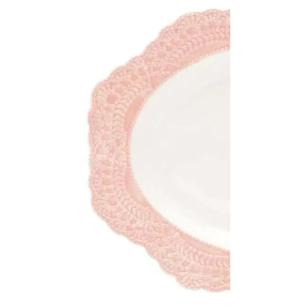 Prato Para Servir Wolff Givemy Oval Porcelana Rosa-Rojemac