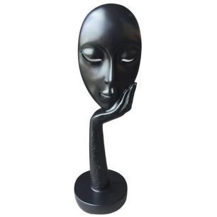 Estatueta Decorativa Face Black em Resina 37cm - Bela Flor