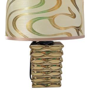 Abajur Decorativo em Cerâmica 31cm Dourado - Interponte
