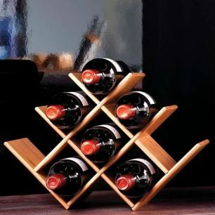 Rack para vinho Bamboo – capacidade 8 garrafas – Mor