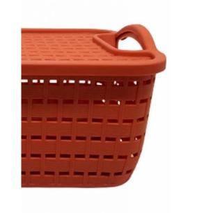 Caixa Organizadora 30 cm em Plástico Canela - FWB