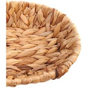 Bandeja Cesta Oval Em Palha 25x19x5,6cm - Amigold