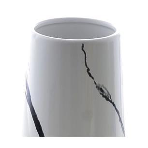Vaso Alto Decorativo em Cerâmica Rose/Branco 25cm Bela Flor