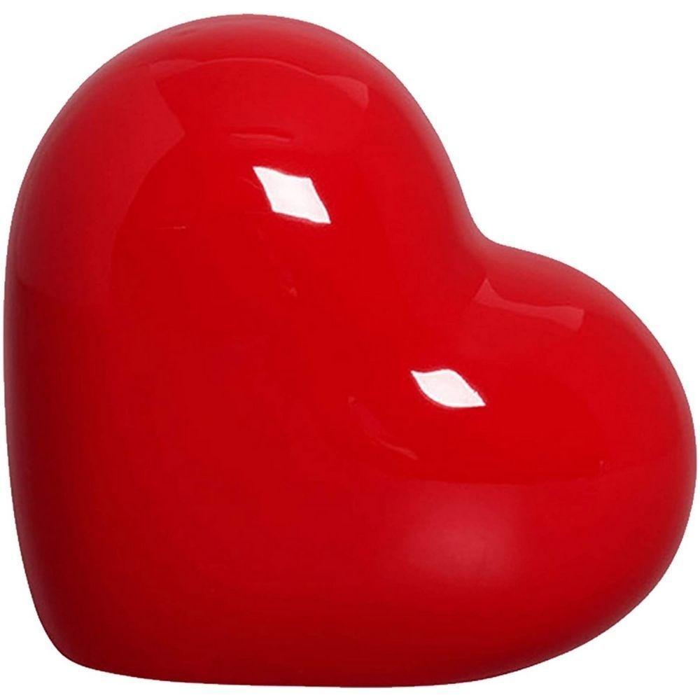 Coração Decorativo em Cerâmica 14 cm Vermelho – Silveira