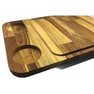 Tábua para Corte Woodart em Madeira Teca 38x25cm Rojemac