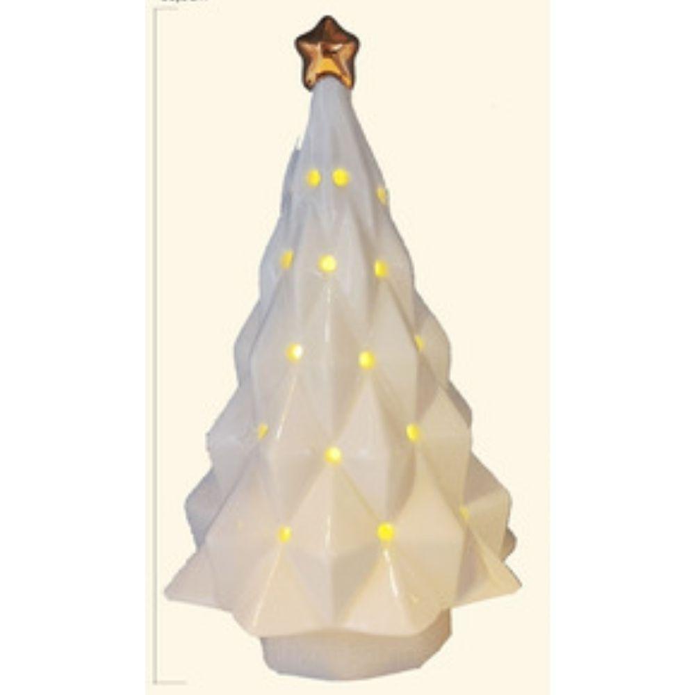 Árvore de Natal Decorativa em Cerâmica Branco – RIO Master