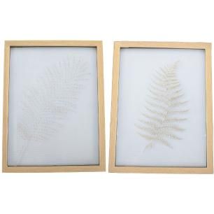 Conjunto 2 Quadros Decorativos em Vidro - Jolitex
