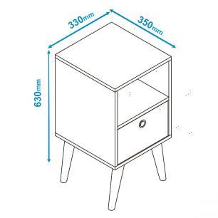 Mesa de Apoio BPP 01 Branco 01 Gaveta - BRV Móveis