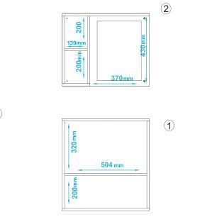 Conjunto para Banheiro BBN 18 Branco 01 Nicho 01 Porta - BRV Móveis