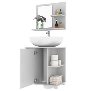 Conjunto para banheiro BBN 19 02 nichos 01 porta-BRV