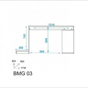 Mesa Gamer BMG 03 04 nichos preto 01 apoio p/ CPU-BRV