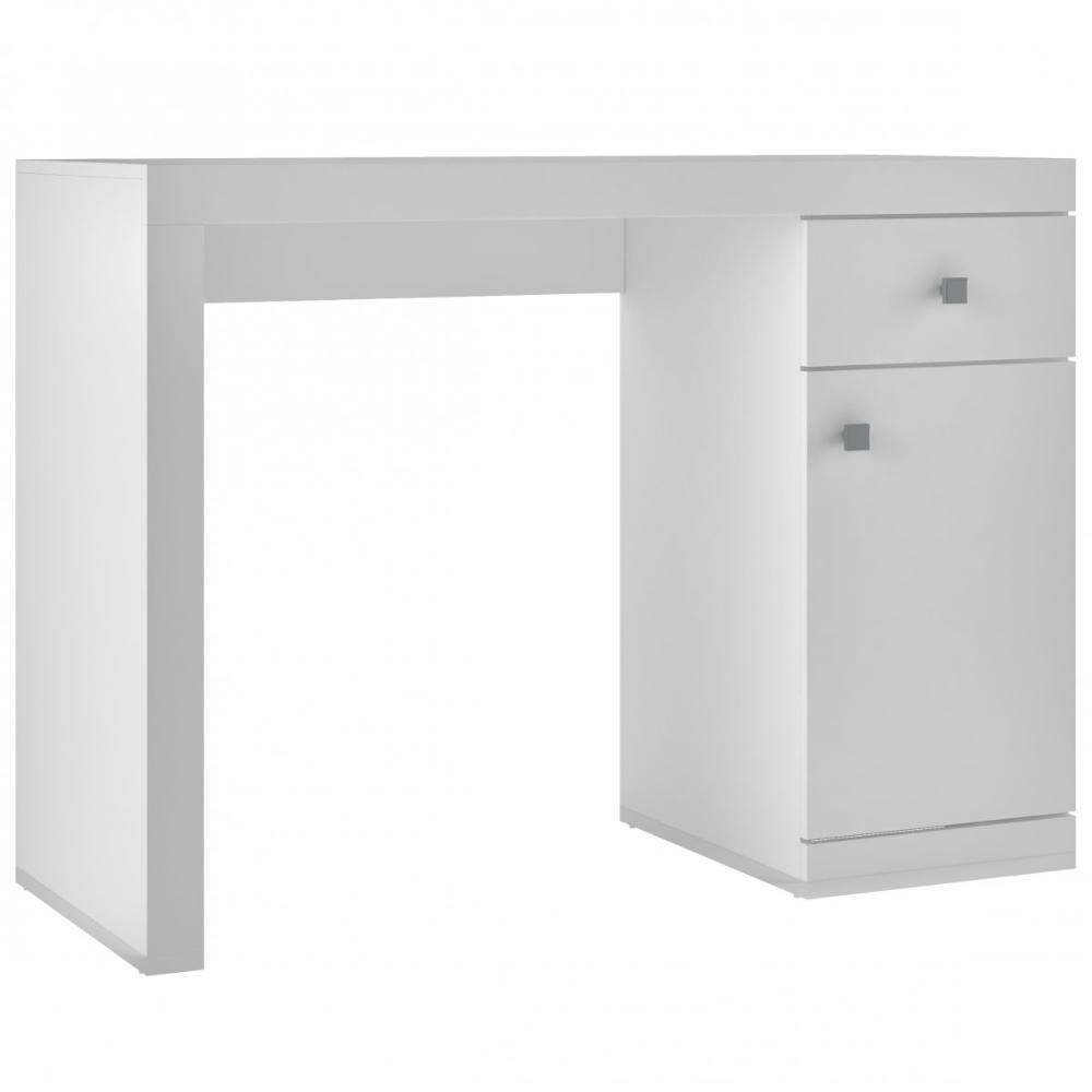 Mesa de Computador BC 35 Branco 01 Porta 01 Gaveta - BRV Móveis