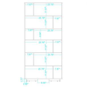 Estante BE 44 Branco com 12 Nichos Geometricos - BRV Móveis