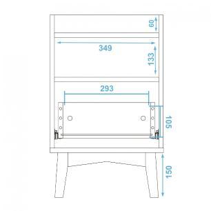 Mesa de Apoio BPI 103 Branco 01 Gaveta - BRV Móveis