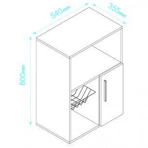 Fruteira BF 11 c/ espaço para forno  branco - BRV Móveis