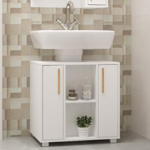 Gabinete para Banheiro BBN 08  Branco 02 Portas - BRV Móveis