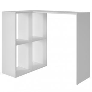 Mesa de Computador BC 42 Branco 04 Nichos - BRV Móveis