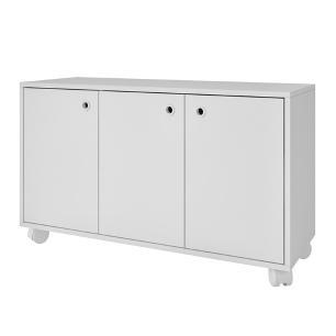 Armário Office BHO 25 Branco 03 Portas - BRV Móveis