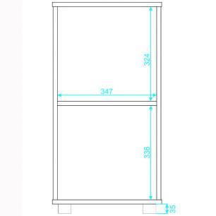 Balcão Baixo BHO 139 Branco 01 Porta 01 Nicho - BRV Móveis