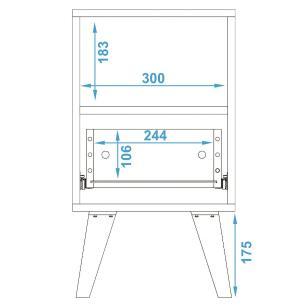Mesa de Cabeceira BPP 215 Branco 01 Gaveta - BRV Móveis