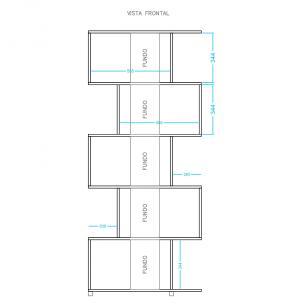 Estante Geométrica BE 08 Branco 05 Nichos - BRV Móveis