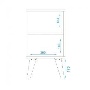 Mesa de Apoio BPP 06 Branco 01 Porta - BRV Móveis