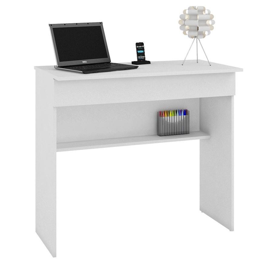 Mesa de Computador BHO 21 Branco com Gavetão - BRV Móveis