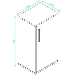 Balcão Baixo BHO 138 Branco 01 Porta 01 Prateleira - BRV Móveis