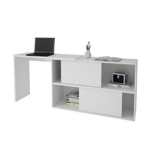Mesa de Computador 2 Em 1 BC 44 Branco 02 Portas - BRV Móveis