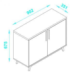 Mesa de Apoio 2 Portas 03 - Produto Exclusivo