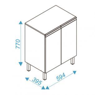 Balcão Multiuso BMU 33 Branco 02 Portas 01 Prateleira - BRV Móveis