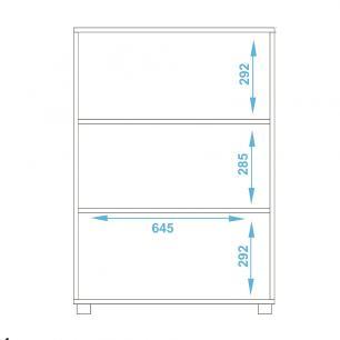 Armário Multiuso BAM 104  Branco 02 Portas - BRV Móveis