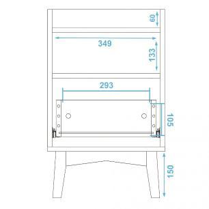 Mesa de Cabeceira BPI 113 Branco 01 Gaveta - BRV Móveis