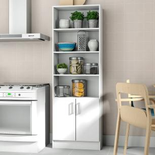 Armário Organizador Cozinha BMU 103 Branco 02 Portas - BRV Móveis