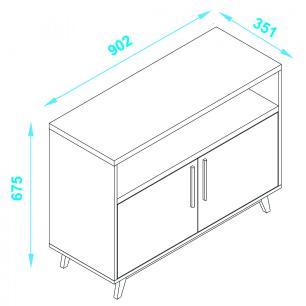 Mesa de Apoio com 2 Portas 02- Produto Exclusivo