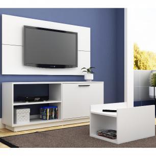 Conjunto Sala de Estar BR 398 Branco Rack para Tvs De Até 48