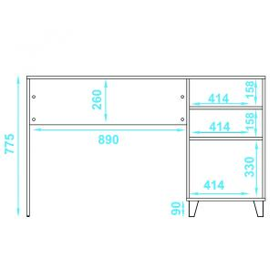 Escrivaninha BC 67 01 Porta  - BRV Móveis