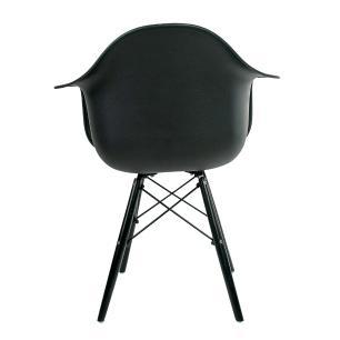 Conjunto com 4 Cadeiras Eames com Braço Black Edition