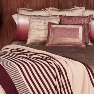 Almofada Essence Tweed Bordô com Veludo Fendi 50x50 Muguet Home