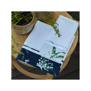 Toalha de Lavabo Bonheur du Muguet Branco Muguet Home