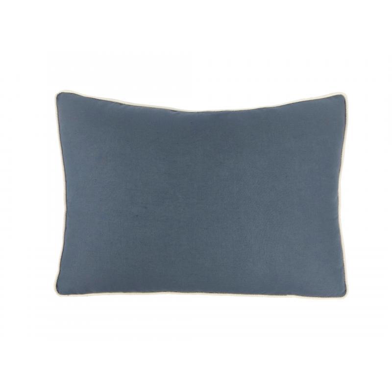 Almofada de Leitura Linho Azul 50x70 Muguet Home