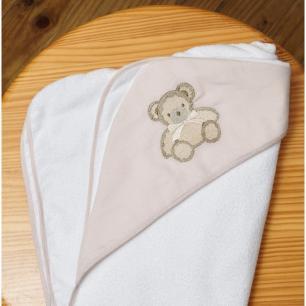 Toalha de Banho Infantil Le Petit Branca  Muguet Home